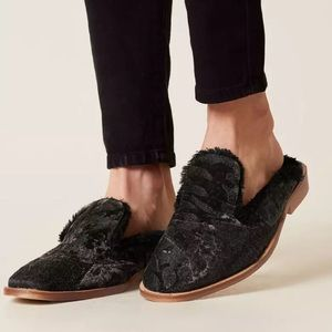 Free people butterfly effect black brown mules 41